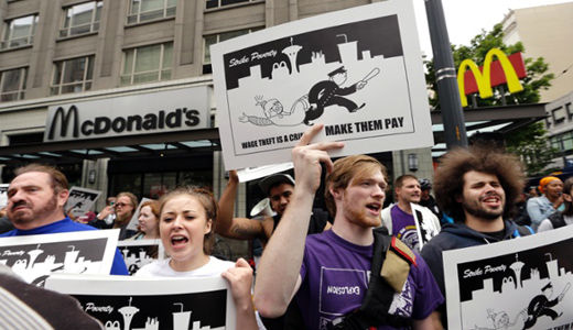 Top labor board official files charges against McDonald's