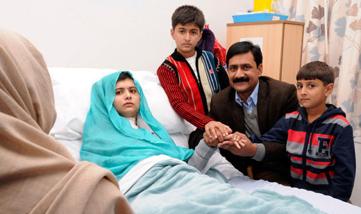 Malala recovering: young Pakistani woman to continue her struggle