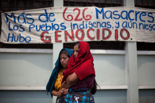 Guatemalan children at U.S. border there because of U.S. backed genocide