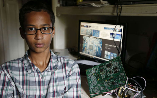 Support pours in for teen suspended over clock