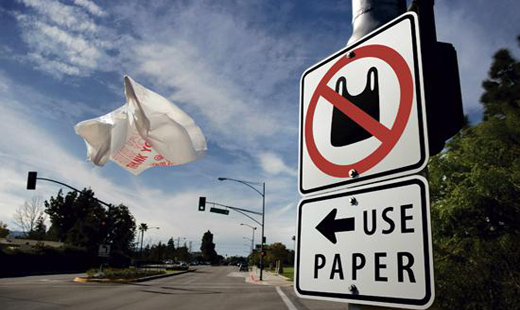 California to dispose of plastic bags