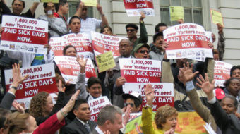 Pass paid family and sick leave now!