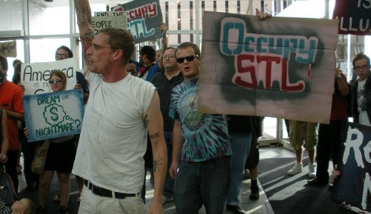 """""""Occupy"""" demonstrations erupt in St. Louis"""