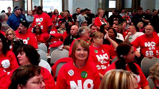 Ohio fights attack on labor