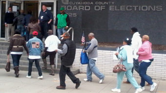 Defying obstruction, voting begins in Ohio