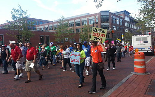 Thousands protest Koch Brothers convention in Ohio