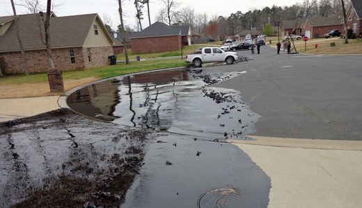 Arkansas, Texas towns poisoned with pools of oil
