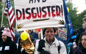 Untimely storm tests the resolve of Occupy Wall Street