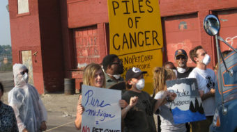 Detroit protests tar sands facilities