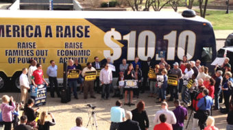 Minimum wage hike drive moves into high gear