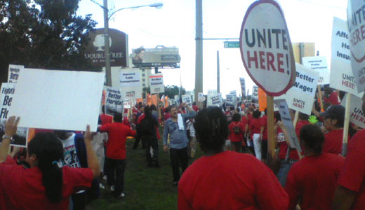 """At DoubleTree, workers fight for """"better Florida"""""""