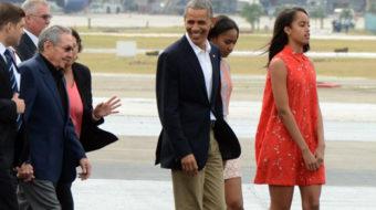 Obama's back from Havana; struggle against Cuba blockade continues