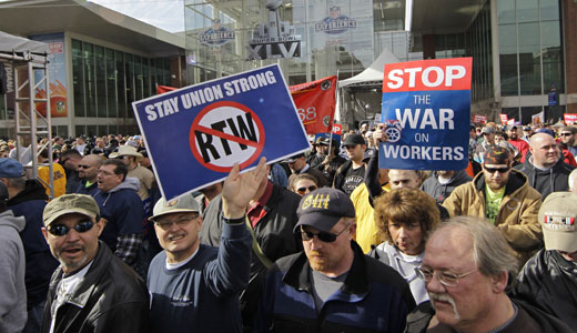 "Dark-money groups building campaign for ""right to work"" in Pa."