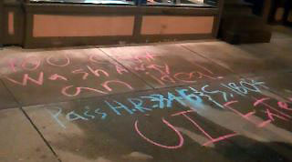 "Sidewalk ""chalk"" protest for unemployment benefits becomes a crime"