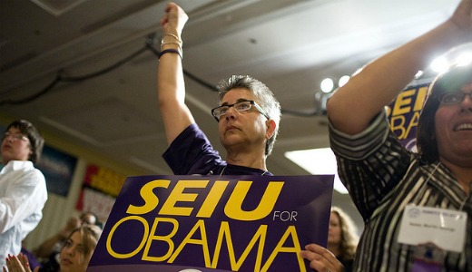 Service Employees back Obama