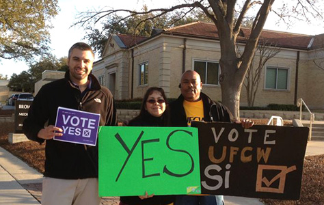 Students support successful union drive for campus workers