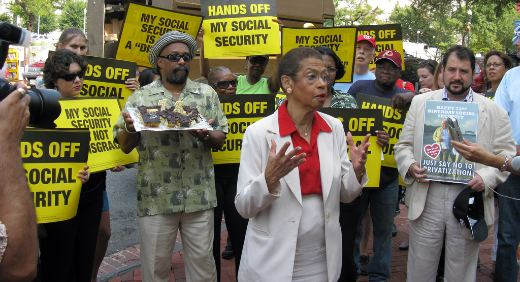 Pickets in 31 states slam Social Security cuts