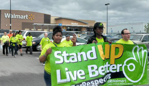 Truckers support Walmart workers ahead of Black Friday