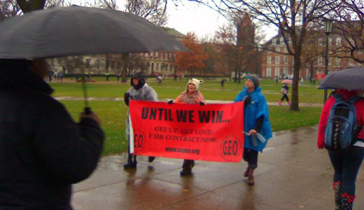 Strike at Illinois campus demands protection of tuition waivers