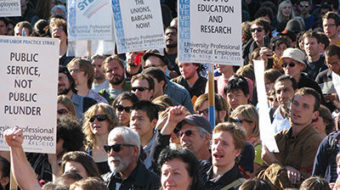 Students, faculty & workers protest U of Calif. hikes, cutbacks