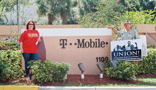 Unionists target T-Mobile before anti-offshoring vote