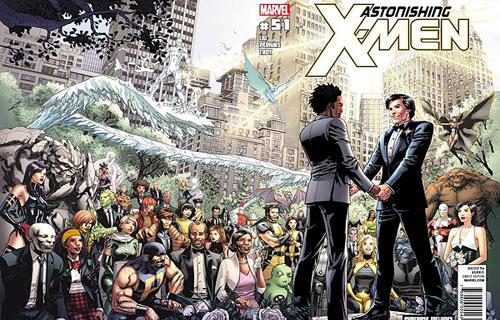 X-Men presents comics' first interracial gay wedding
