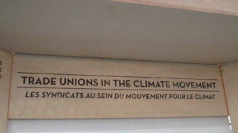 At Paris Trade Union Forum: A call to ban fracking worldwide