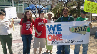 Arizona unions and basketball fans support Wisconsin