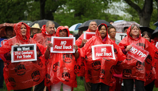 'Big Tent' news conference shows big opposition to Fast Track, TPP