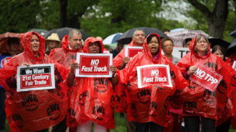 Unions ramp up pressure ahead of Fast Track vote