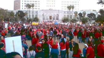 Negotiate now or face a strike, say L.A. teachers
