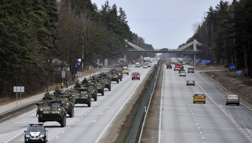 U.S troops take dragoon ride through Eastern Europe
