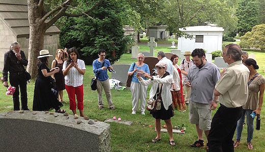 Visit to giant's gravesite: Vito Marcantonio