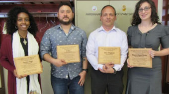 Four labor/community leaders receive Hershel Walker Peace & Justice Award