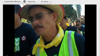 Out of dusty desert and shadows, LA Walmart warehouse workers march (video)