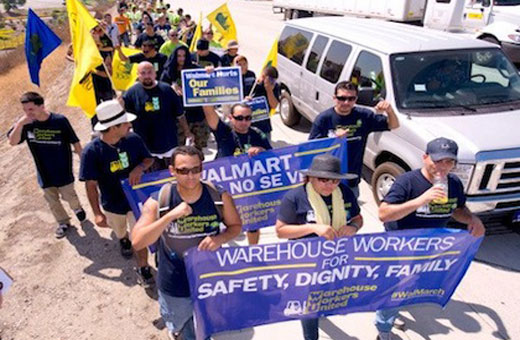 Walmart warehouse workers strike for workplace safety