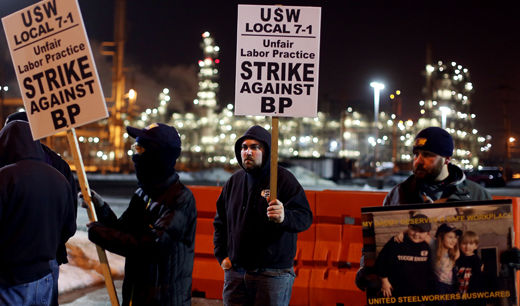 Workers in Ohio and Indiana join USW strike against oil industry