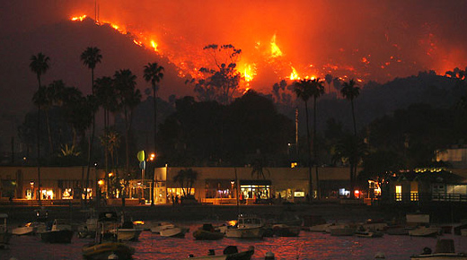 Wildfire is first of many more due to California drought