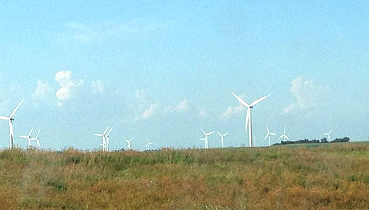 Wind gives small towns a boost