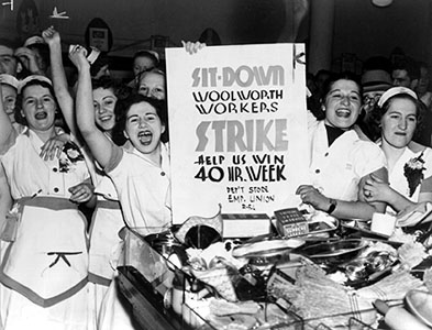 Today in women's history: Police evict striking Woolworth's clerks