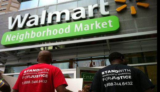 Strike at Walmart warehouses spreads