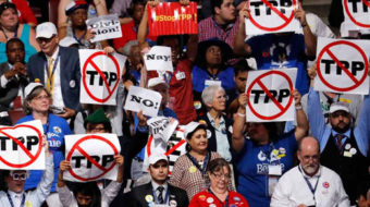 Clinton reiterates her opposition to TPP, pledges support for infrastructure