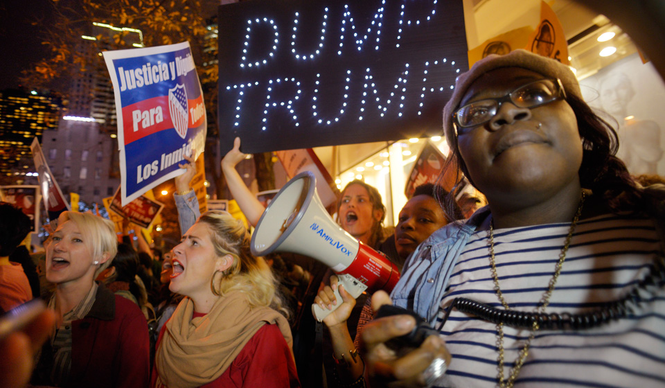 People across the political spectrum rising to defeat Trump