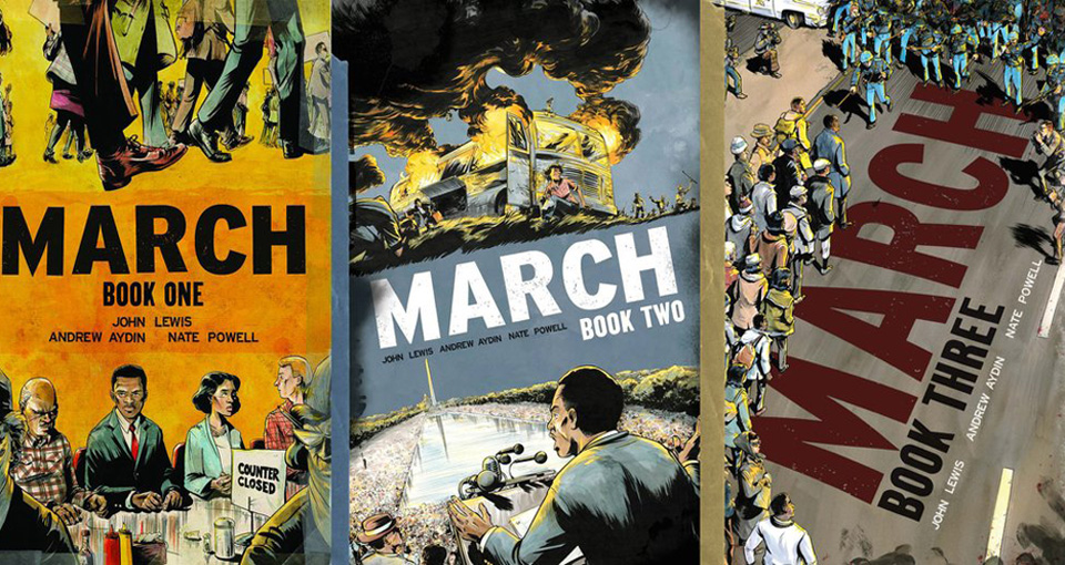 """March"": John Lewis' graphic novel trilogy"