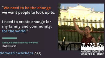Domestic workers and immigrants to join the Women's March
