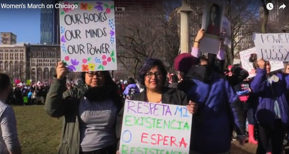 Women lead the way at anti-Trump marches