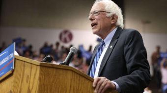 """Sanders promete mantener el ayuntamiento del occidente de Virginia """"en las calles"""""""