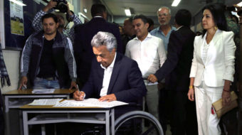 Socialist presidential candidate Lenín Moreno leads in Ecuador