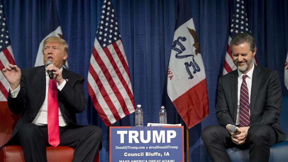 Trump picks Jerry Falwell Jr. to lead higher education task force