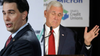 Wisconsin's Walker urges VP Pence: Take anti-union crusade national
